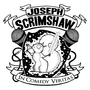 Scrimshaw's crest - a squirrel drinking a martini and holding a lightsaber--is one of those things that, once created, has ALWAYS existed, because the possibility of a world without it is simply too grim to consider.