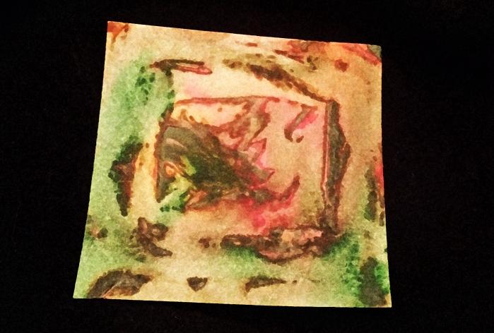 overlay watercolor sponge